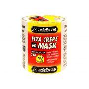 Fita Mask Crepe, 18 mm x 50 m, Contém 06 Rolos, Adelbras - 710