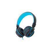 Fone C/microfone Neon P2 Dobrável Oex Cabo Trançado Cinza/azul Hs106