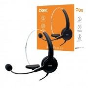 Fone com Microfone OEX Call HS101 RJ11 Preto
