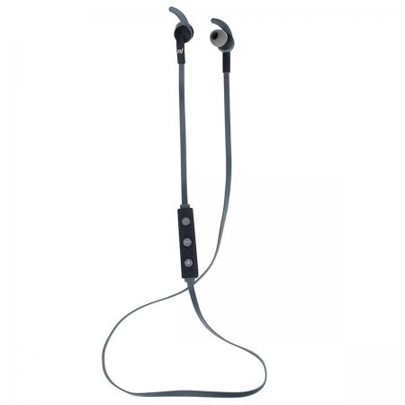 Fone de Ouvido Bluetooth New Link Runner HS116, Preto e Cinza