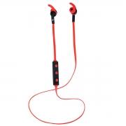 Fone de Ouvido Bluetooth New Link Runner HS116, Preto e Vermelho