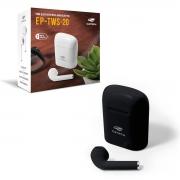 Fone de Ouvido C3Tech EP-TWS-20BK, Bluetooth 5.0, Intra Auricular, TWS, Preto