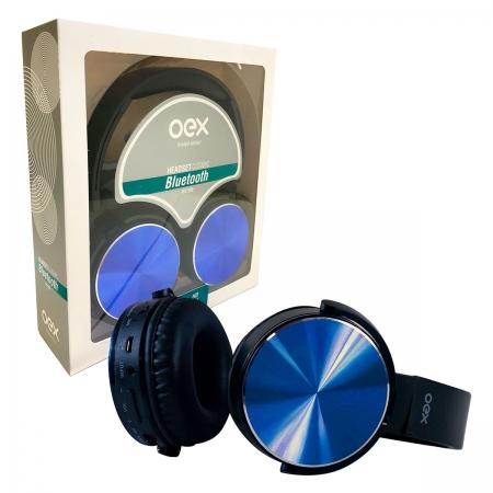 Fone de Ouvido OEX Cosmic HS309, Bluetooth, Função Hands Free, Azul