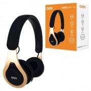 Fone de Ouvido OEX Drop HS210, P2 de 3.5mm, Preto e Dourado, C/ Microfone