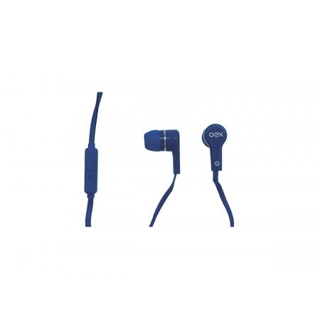 Fone de Ouvido OEX POP FN207, P2 3.5mm, C/Microfone, Azul