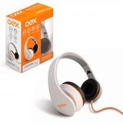 Fone de Ouvido OEX Sense HP100, Dobrável, P2 de 3,5mm, Branco - Função Hands Free
