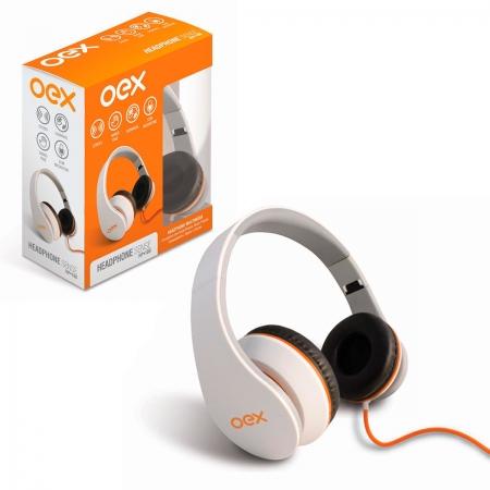 Fone de Ouvido OEX Sense HP100, Dobrável, P3 de 3,5mm, Branco - Função Hands Free