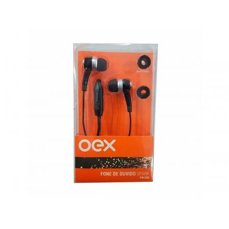 Fone de Ouvido OEX Spark FN205, P2 3.5mm, C/Microfone, Preto