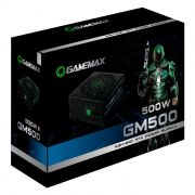 Fonte Alimentação Gamer ATX Gamemax 500W Real GM500 80 Plus Bronze