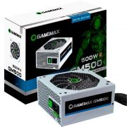 Fonte Alimentação Gamer ATX Gamemax 500W Real GM500 80 Plus Bronze Branca