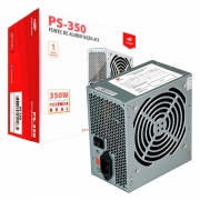 Fonte ATX C3Tech PS-350, 350W Real, Bivolt Manual