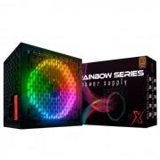 Fonte BRX Rainbow 500W 80 Plus Bronze RGB Bivolt Automático