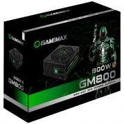 Fonte de Alimentação ATX Gamemax 800w GM800 80 Plus