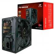 Fonte Gamer ATX C3Tech PS-G600B, 600W, 80 Plus Bronze, PFC Ativo, Bivolt Automático