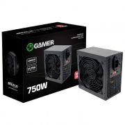 Fonte Gamer Brazil PC BPC/7400-B 750W Real