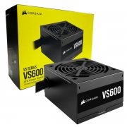Fonte Gamer Corsair VS600, 600W, 80 Plus White, PFC Ativo, Bivolt - CP-9020224-BR