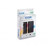 Fonte para Notebook Universal Elgin 90w, 9 Adaptadores e Saída USB - 46RFTE90W000