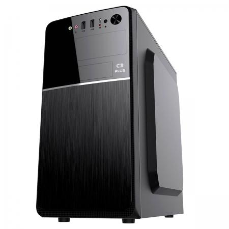Gabinete C3Plus MT-24V2BK, Micro-ATX, Fonte 200W Inclusa