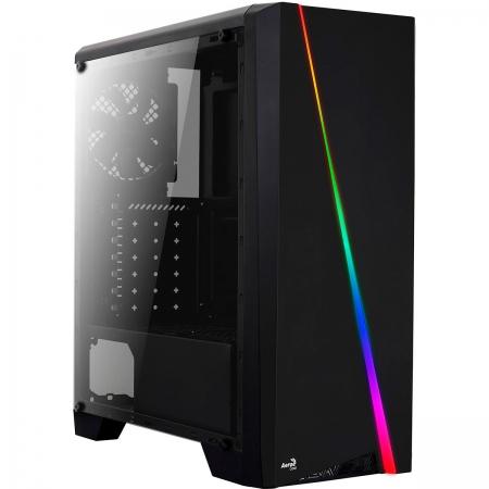 Gabinete Gamer Aerocool Cylon LED RGB, ATX, Com Fan, Lateral em Acrilico, Preto
