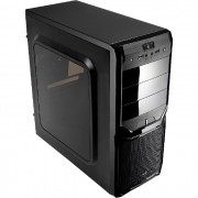Gabinete Gamer Aerocool V3X Window ATX, Com FAN, Lateral em Acrilico, Preto