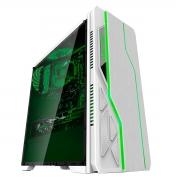 Gabinete Gamer Bluecase BG-009, Branco, LED RGB, USB 3.0, Lateral em Acrílico
