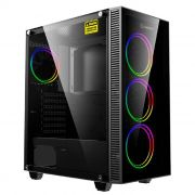 Gabinete Gamer Gamemax Mini Stratos H609 4 Fans Rainbow