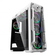 Gabinete Gamer Gamemax Optical G510-W Branco 4 Fans Rainbow