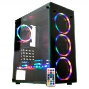 Gabinete Gamer K-MEX Atlantis Sync CG-05N9 3 Fans ARGB + Fita LED - CG05N9RH0010B0X