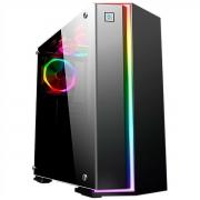 Gabinete Gamer K-MEX Fox CG-06RB 1 Fan LED RGB Rainbow + Placa Controladora - CG06RBRH001CB0X