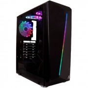 Gabinete Gamer OEX Shelter GH200, Preto, LED RGB, 3 Coolers