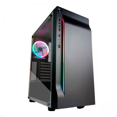 Gabinete Gamer Pixxo CG01, RGB, ATX, USB 3.0