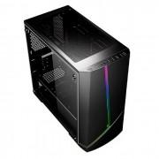 Gabinete Gamer Pixxo CG11, RGB, Micro-ATX, Preto