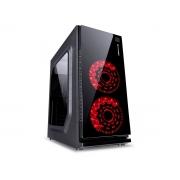 Gabinete Gamer Vinik CRATER, Preto C/ LED Vermelho, Lateral em Acrílico, ATX - 29834
