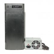 Gabinete Padrão Brazil PC C3135 Black ATX, 2 USB 2.0, Audio, Fonte 230W C/Cabo de Energia
