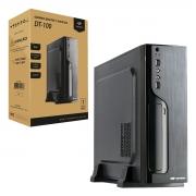 Gabinete Slim C3Tech DT-100BK, Micro-ATX, C/ Fonte 200W