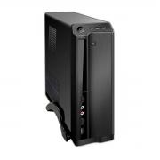 Gabinete Slim Pixxo HTQ562B04S, Micro-ATX, Fonte 200W Real, Preto