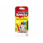 Giz de Cera Koala 6 Cores Sortidas, Pct. c/ 24 Caixinhas - Delta - 2253