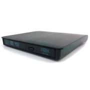 Gravador DVD Externo DEX DG-300 Slim, USB 3.0, Preto