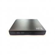 Gravadora Externa Dvd-rw Nfx Usb Slim Preto