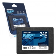 HD SSD 240GB Patriot Burst Elite, Sata III 6Gb/s, Leitura 450MB/s, Gravação 320MB/s - PBE240GS25SSDR