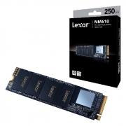 HD SSD 250GB Lexar NM610, M.2 2280 NVMe, PCIe Gen3x4, Leitura 2000 MB/s, Gravação 1200 MB/s