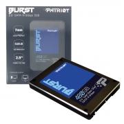 """HD SSD 480GB Patriot Burst 2,5"""" Sata III 6Gb/s Leitura 560 MB/s, Grav. 540 MB/s PBU480GS25SSDR"""