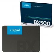 HD SSD Crucial BX500, 480GB, SATA III, Leitura 540 MB/s, Gravação 500 MB/s - CT480BX500SSD1