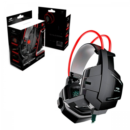 Headset Gamer C3Tech Sparrow PH-G11BK, C/Microfone, P2 3.5mm
