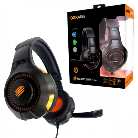 Headset Gamer OEX Gorky HS413, P3 (3.5mm), Multiplataforma - PS4, Xbox One