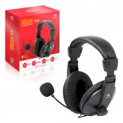 Headset Voicer Comfort PH-60BK, Microfone Flexível, Volume Integrado, P2, Preto