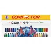 Hidrográfica Color 24 Cores, Pacote C/ 5 Caixinhas, Compactor