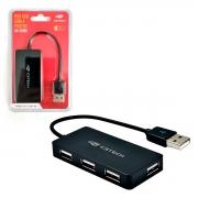 Hub C3Tech HU-220BK, 4 Portas USB 2.0