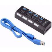 Hub USB 3.0 4 portas com fonte GV HUB.466
