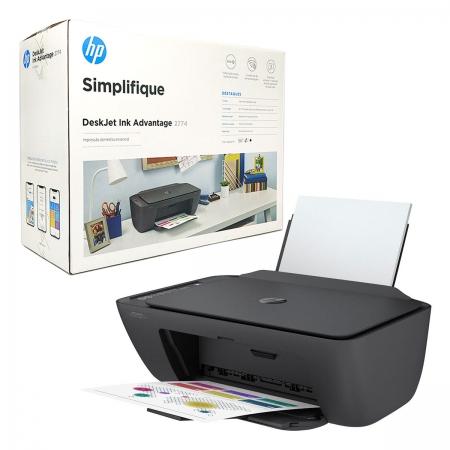 Impressora Multifuncional HP Deskjet Ink Advantage 2774, Colorida, Wi-Fi, USB 2.0, Bivolt